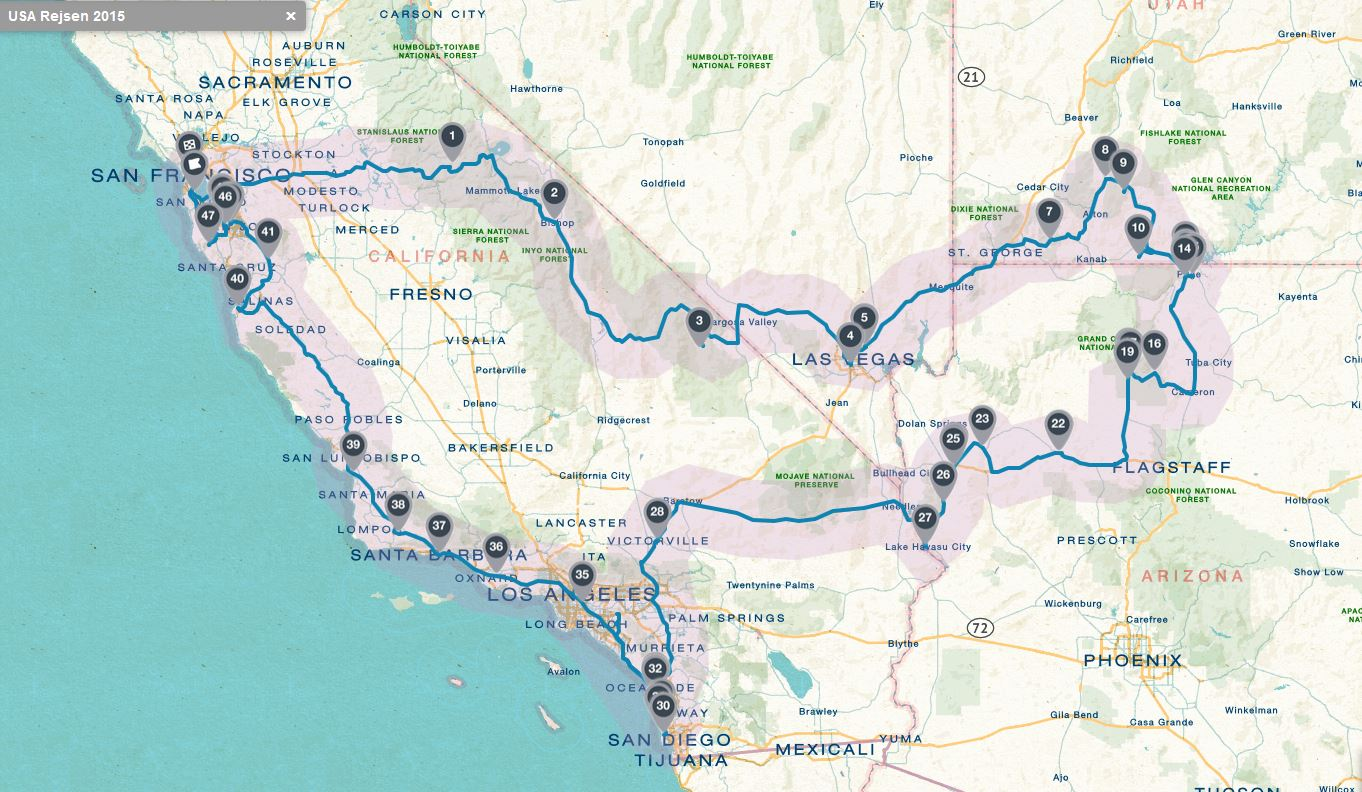 Roadtrip Californien Usa 2015 Sommerferien Gaarden